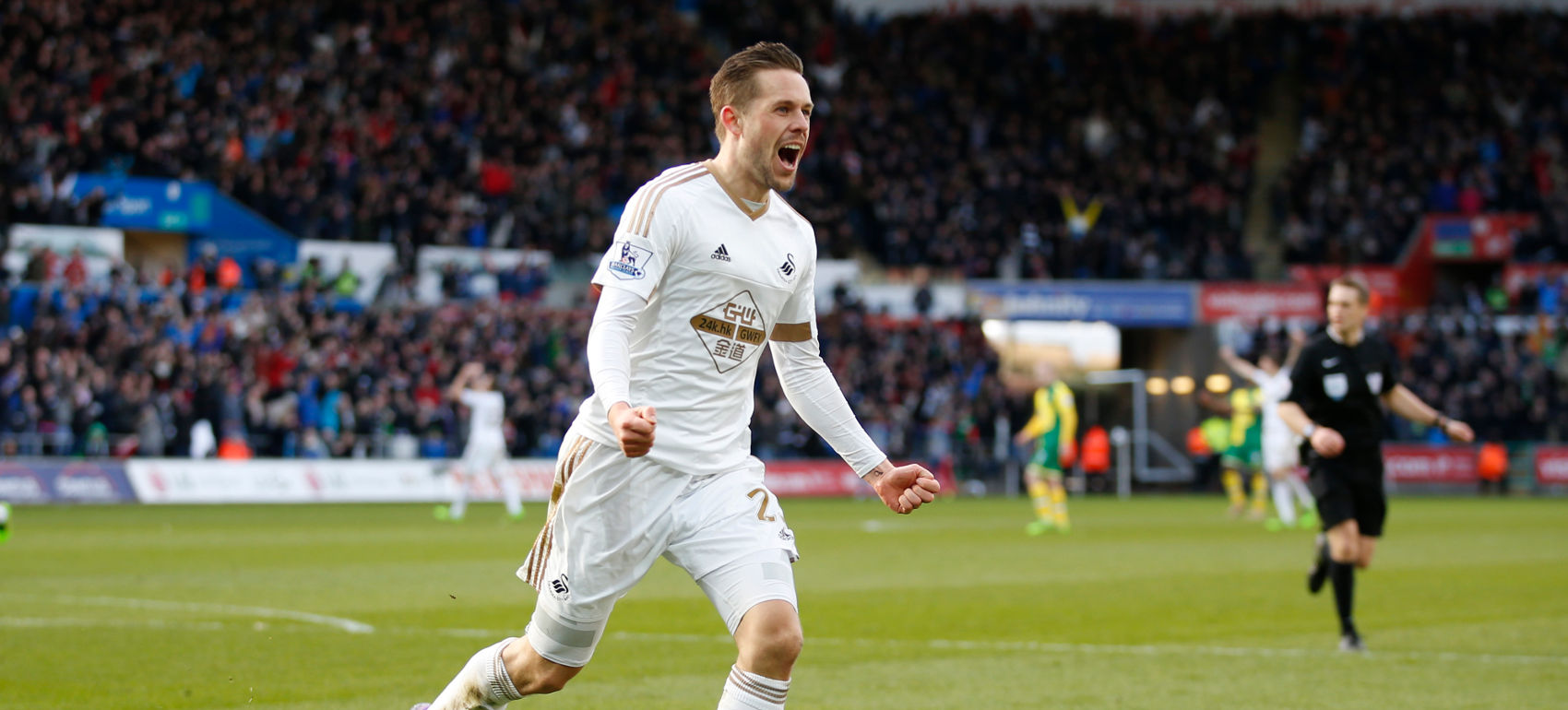 → January transfer window signing Gylfi Sigurdsson scored five goals and assisted a further seven in just 18 appearances for Swansea City. What was his bargain starting price?