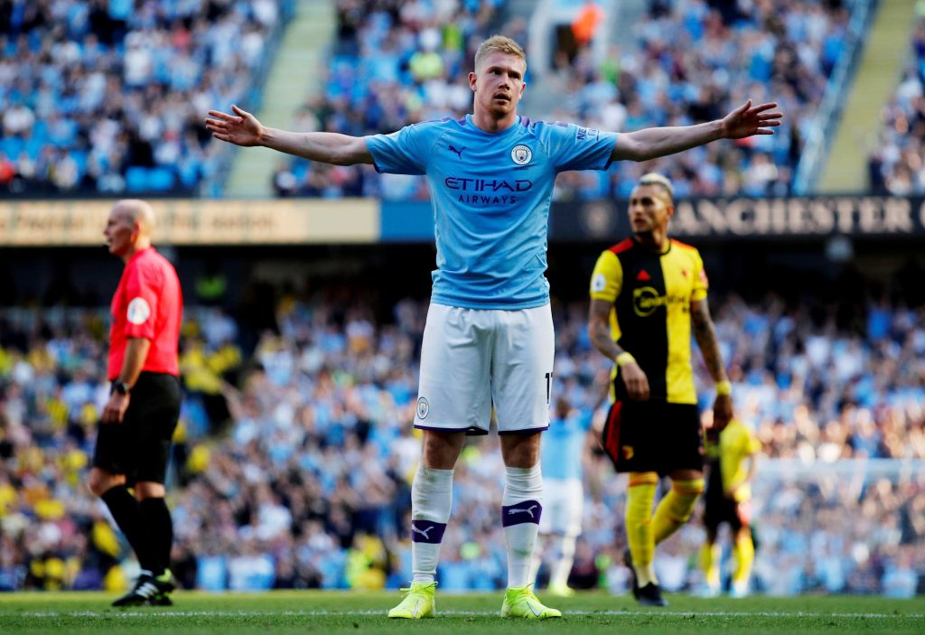 Foden makes first league start of season as De Bruyne takes up advanced role