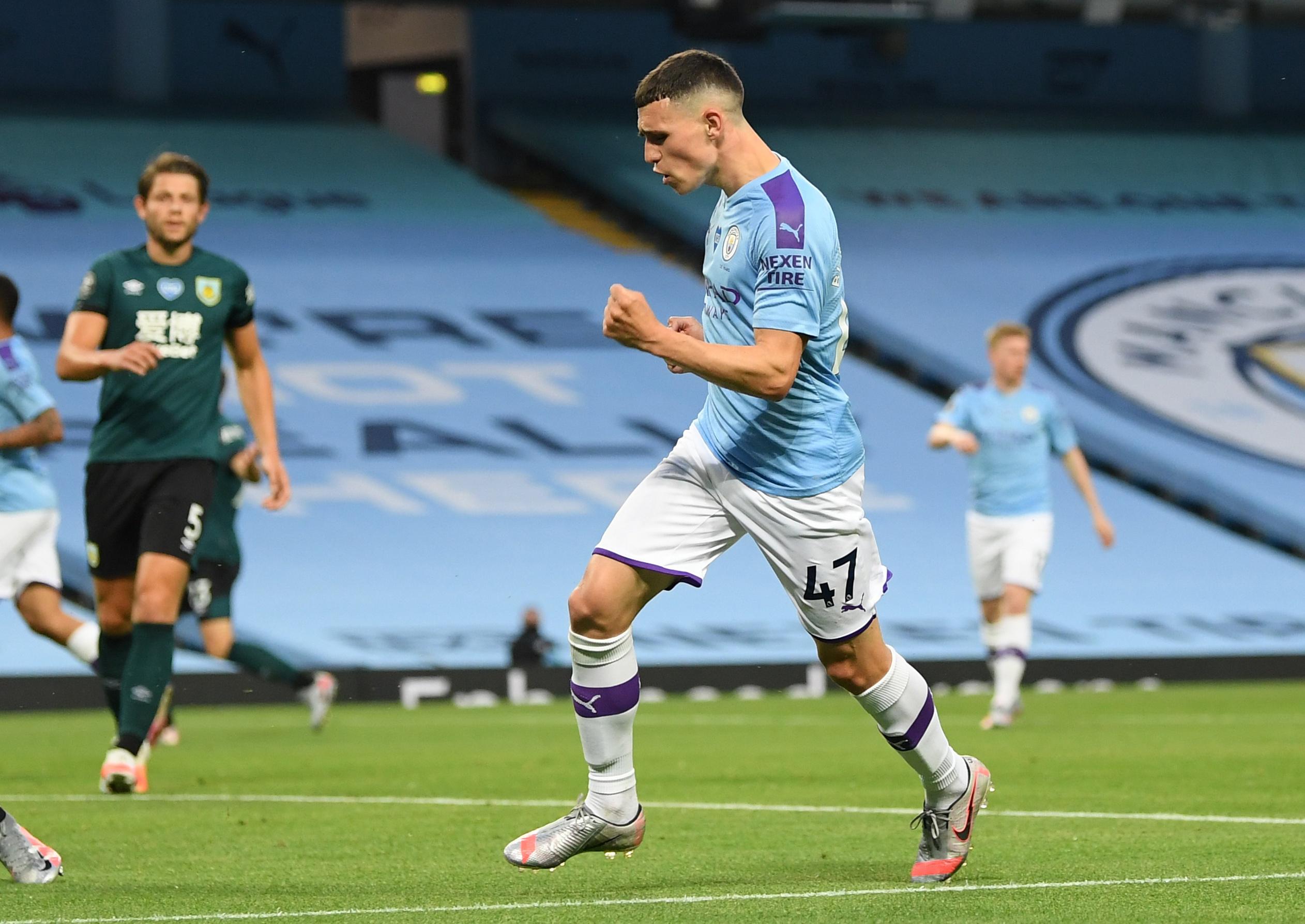 Foden starts for Man City as Guardiola benches Mahrez