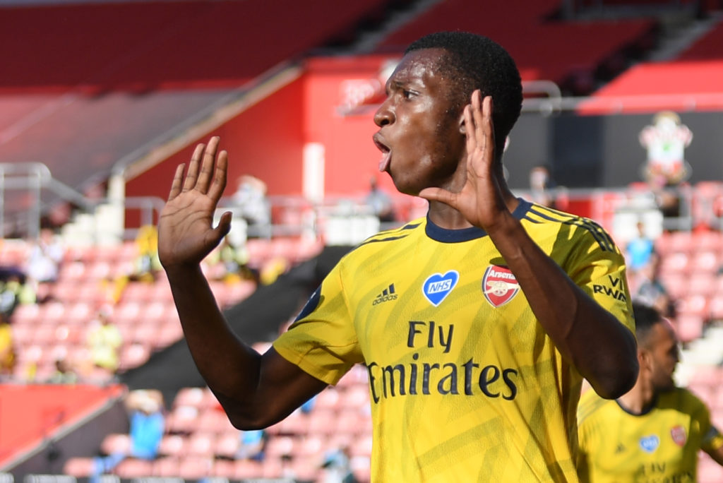 Nketiah straight back in Arsenal team after suspension