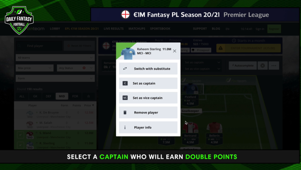 How to play FanTeam's €1m Premier League Fantasy game - a beginner's guide