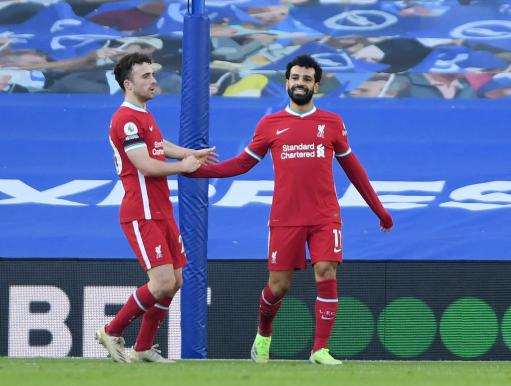 Jota continues relentless form as Klopp manages Salah's minutes