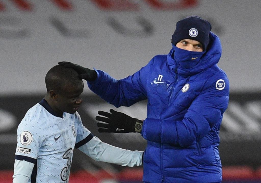 Ngolo Kante with his coach