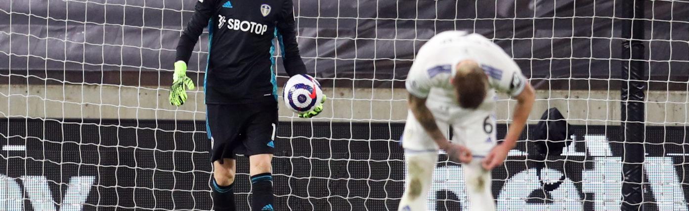 Wolves restrict heavily-backed Bamford as Meslier suffers freak own goal