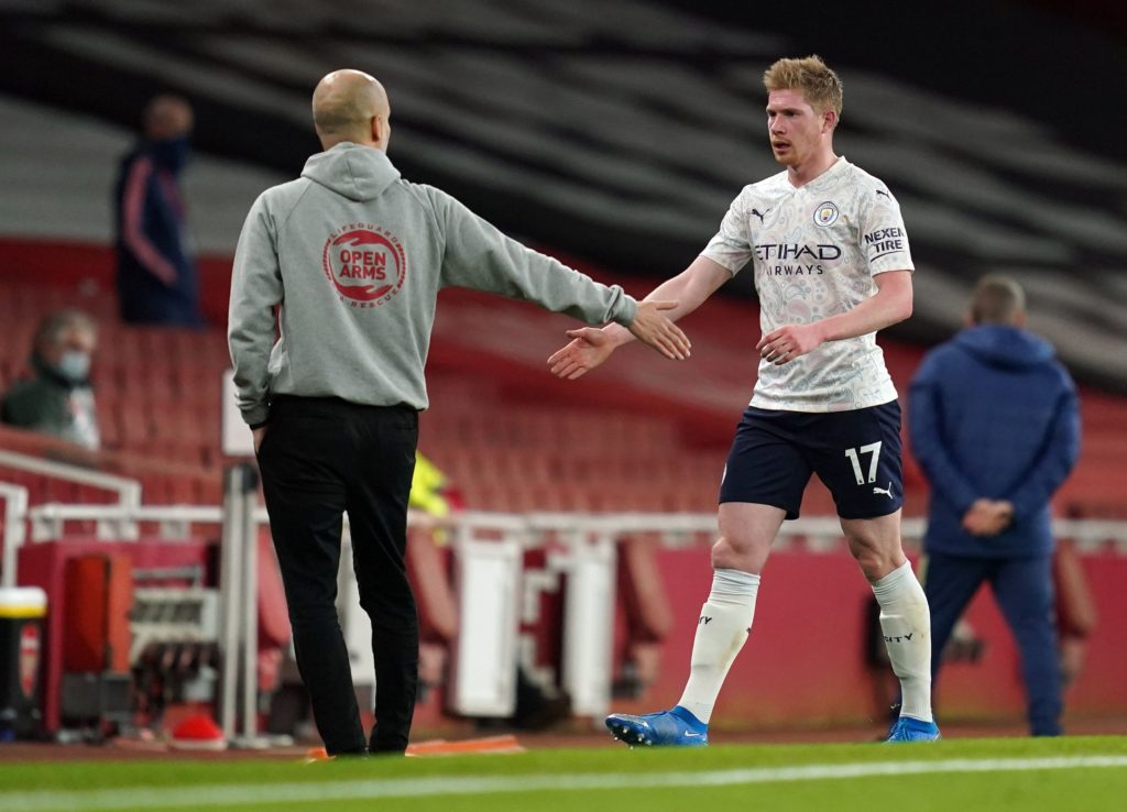 How De Bruyne looked on his Man City return against Arsenal