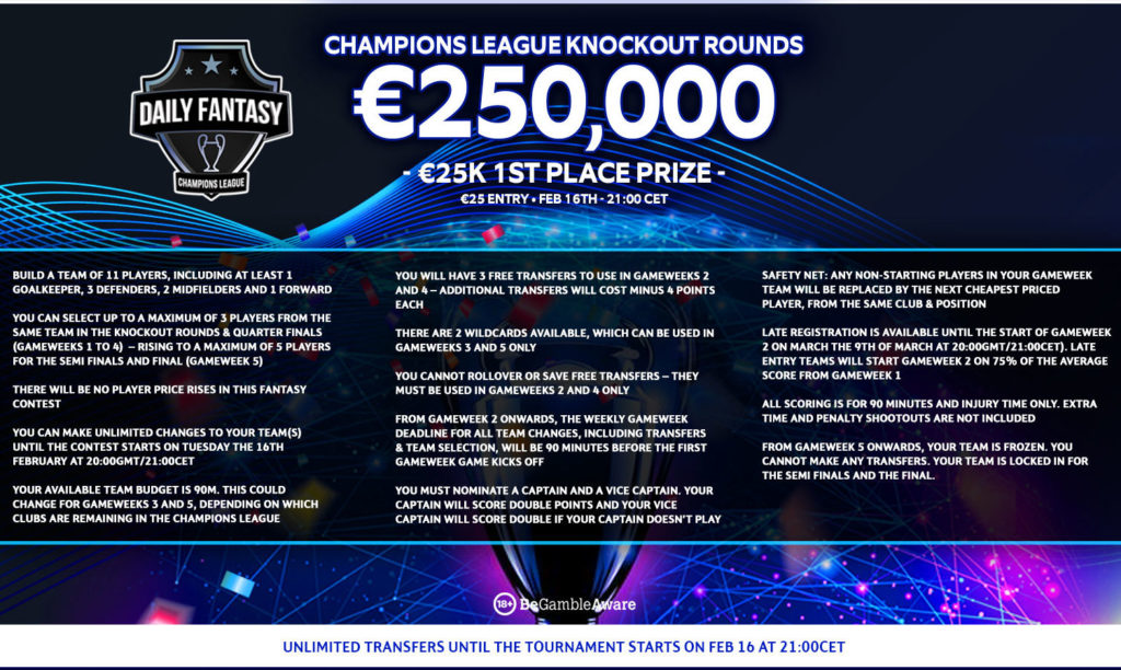 Win a share of €250,000 in FanTeam's Champions League Fantasy game