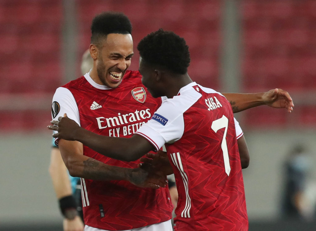 Saka, Aubameyang return to Arsenal starting XI but Smith Rowe absent from squad
