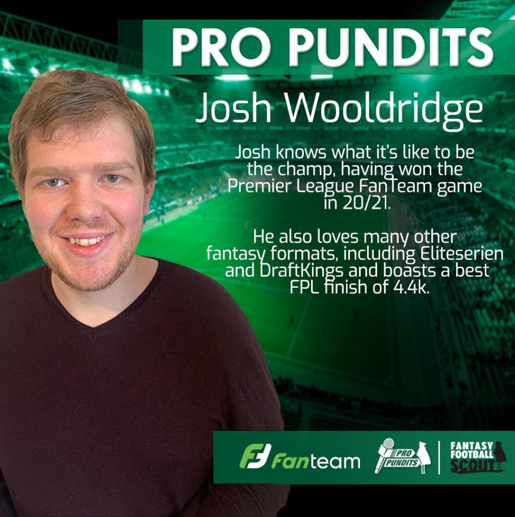 Top FanTeam tips from 2020/21 champion and €200k winner Josh Wooldridge