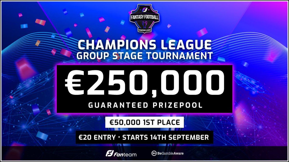 Enter the €250K FanTeam Champions League Group Stage Tournament and get your FFS Membership free